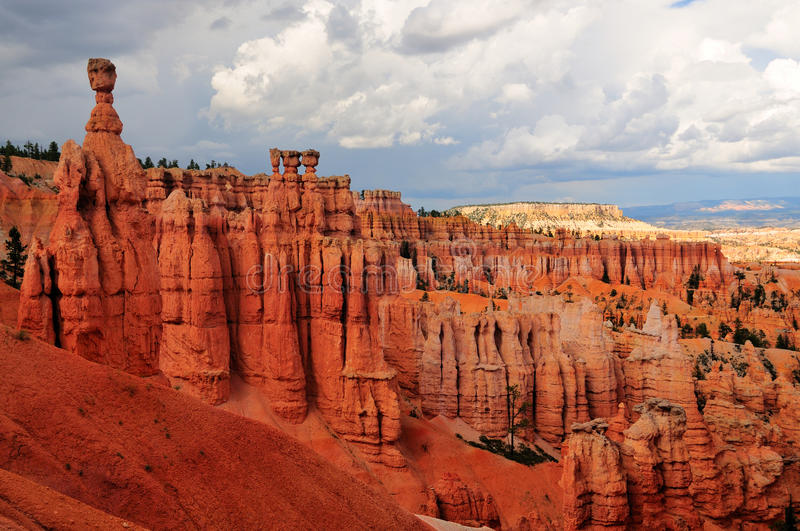Bryce Canyon National Park, Utah. Red rocks in Bryce Canyon National Park, Utah stock photo