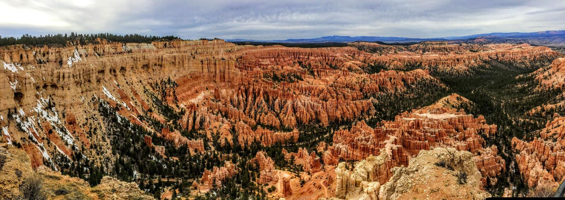 Bryce Canyon National Park View van Inspiratiepunt Rim Trail stock fotografie