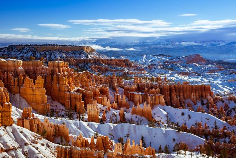 Bryce Canyon National Park in Winter season, Utah, USA royalty free stock photography