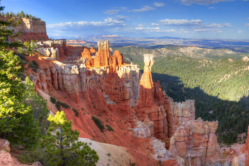 Bryce Canyon. A nice hoodoo formation in red rock Bryce Canyon royalty free stock image