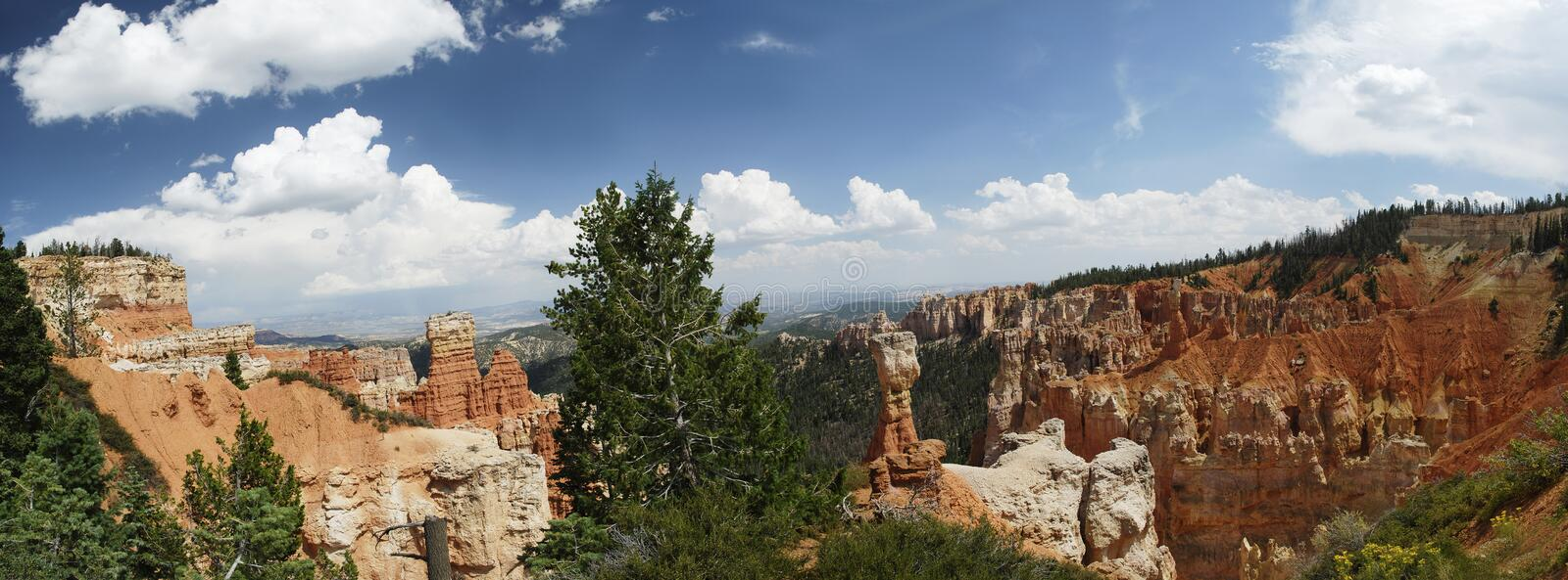 Bryce Canyon Overlook Panoramic royalty-vrije stock foto