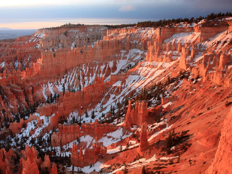 Download Bryce Canyon at sunrise stock photo. Image of dusk, formation - 14447908