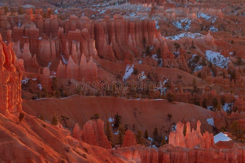 Bryce Canyon Sunrise Landscape stock photography