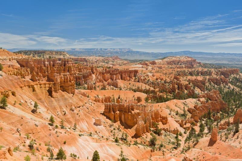 Bryce Canyon van Rim Trail stock foto's