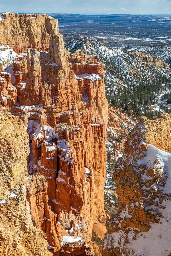 Bryce Canyon Winter View royalty free stock image