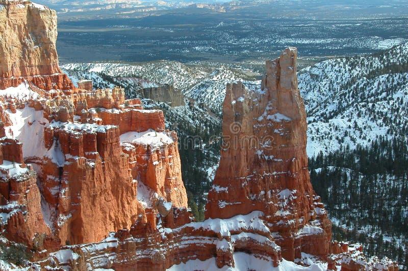 bryce canyon zima obrazy stock