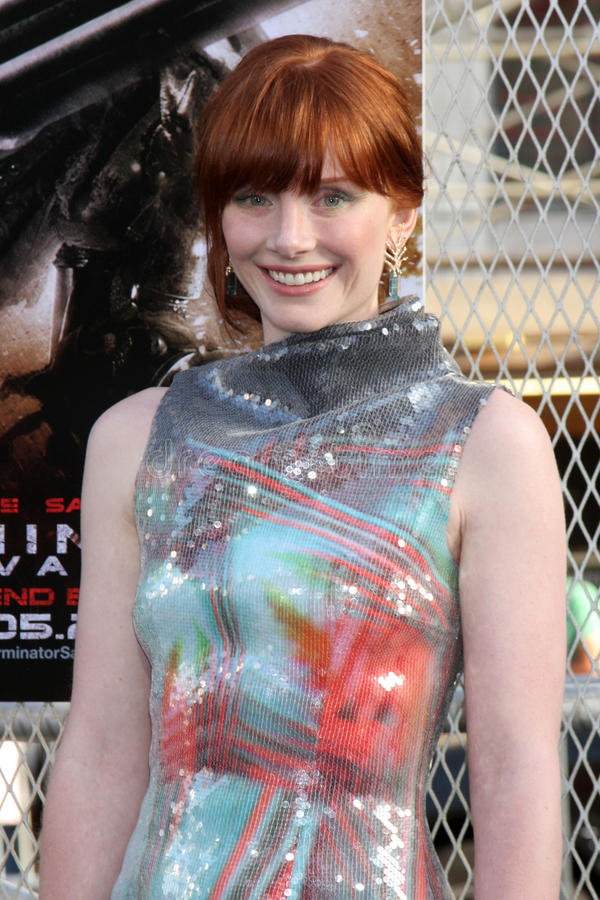 Bryce Dallas. Howard arriving at the Terminator Salvation US Premiere at the Grauman's Chinese Theater in Los Angeles, CA on May 14, 2009 2009 Kathy Hutchins / royalty free stock photo