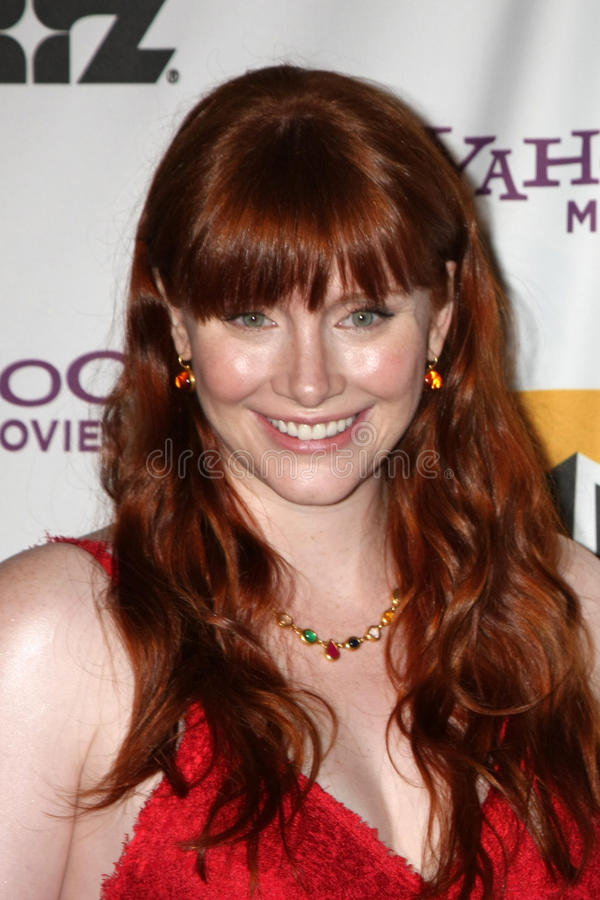 Bryce Dallas Howard. LOS ANGELES - OCT 24: Bryce Dallas Howard arriving at the 15th Annual Hollywood Film Awards Gala at Beverly Hilton Hotel on October 24, 2011 stock image