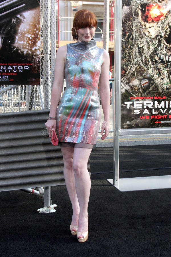 Bryce Dallas Howard. Arriving at the Terminator Salvation US Premiere at the Grauman's Chinese Theater in Los Angeles, CA on May 14, 2009 2009 Kathy Hutchins / royalty free stock image