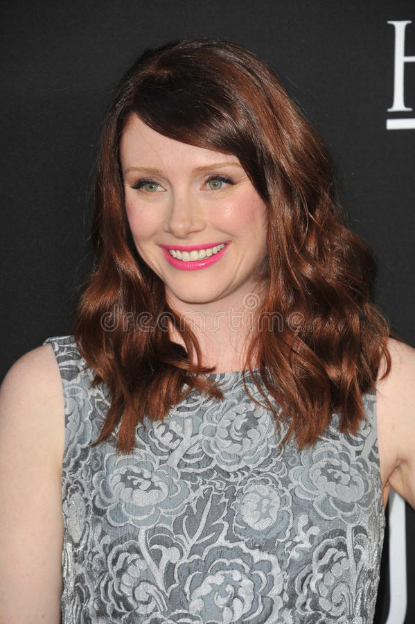 Bryce Dallas Howard. LOS ANGELES, CA - AUGUST 13, 2013: Bryce Dallas Howard at the Los Angeles premiere of Jobs at the Regal Cinemas LA Live royalty free stock photo