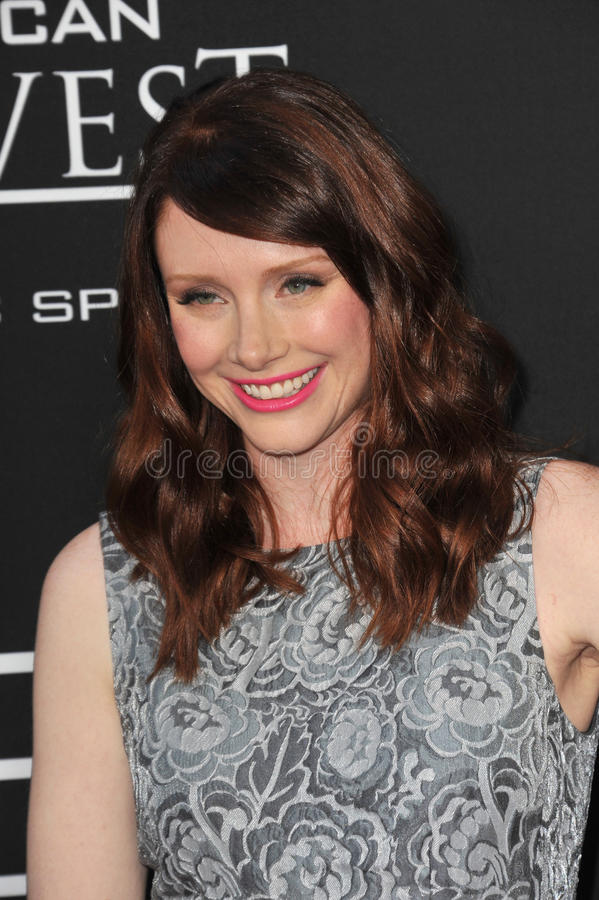 Bryce Dallas Howard. LOS ANGELES, CA - AUGUST 13, 2013: Bryce Dallas Howard at the Los Angeles premiere of Jobs at the Regal Cinemas LA Live stock photo