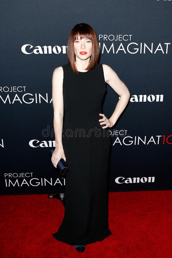 Bryce Dallas Howard. NEW YORK- OCT 24: Actress Bryce Dallas Howard attends the premiere of Canon's 'Project Imaginat10n' Film Festival at Alice Tully Hall at royalty free stock photography