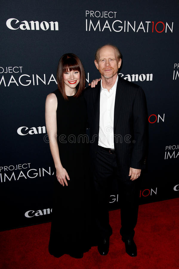 Bryce Dallas Howard, Ron Howard photographie stock libre de droits