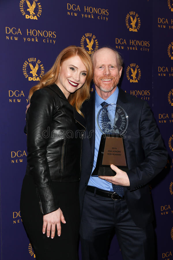 Bryce Dallas Howard, Ron Howard photographie stock