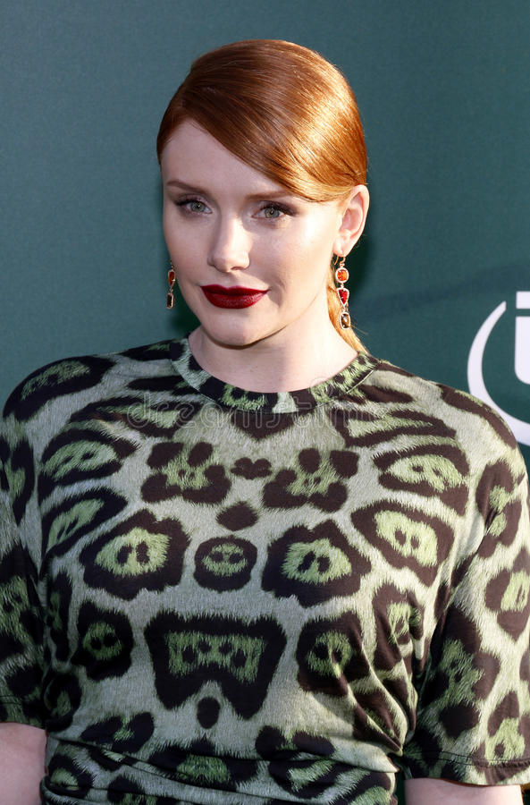 Bryce Dallas Howard. At the World premiere of 'Pete's Dragon' held at the El Capitan Theatre in Hollywood, USA on August 8, 2016 stock images