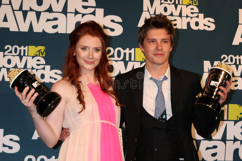 Bryce Dallas Howard, Xavier Samuel. LOS ANGELES - JUN 5: Bryce Dallas Howard; Xavier Samuel in the press room of the 2011 MTV Movie Awards at Gibson Ampitheatre royalty free stock photos