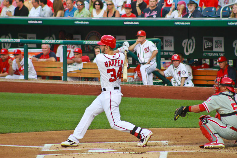 Bryce Harper Washington Nationals στοκ φωτογραφία