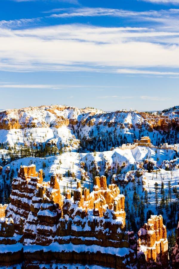 Bryce Schlucht-Nationalpark im Winter, Utah, USA lizenzfreie stockfotos