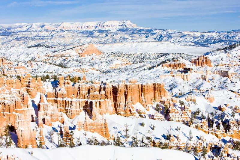 Bryce Schlucht-Nationalpark im Winter, Utah, USA lizenzfreies stockfoto