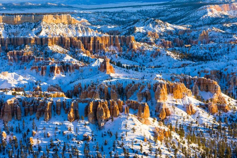 Bryce Schlucht-Nationalpark im Winter, Utah, USA stockfoto