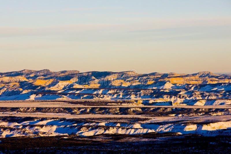 Bryce Schlucht-Nationalpark im Winter, Utah, USA stockfotos