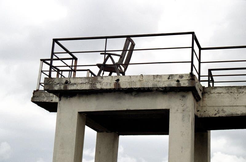 Bryczka hol na balkonie morzem fotografia stock