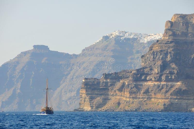 Brygantyna w morzu śródziemnomorskim zdjęcie stock