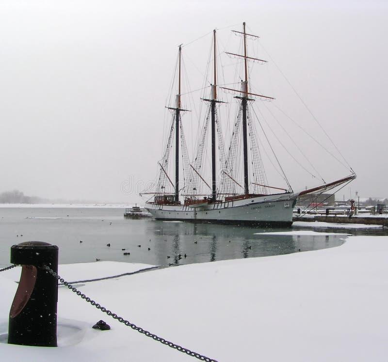 brygantyny zimy. obraz royalty free