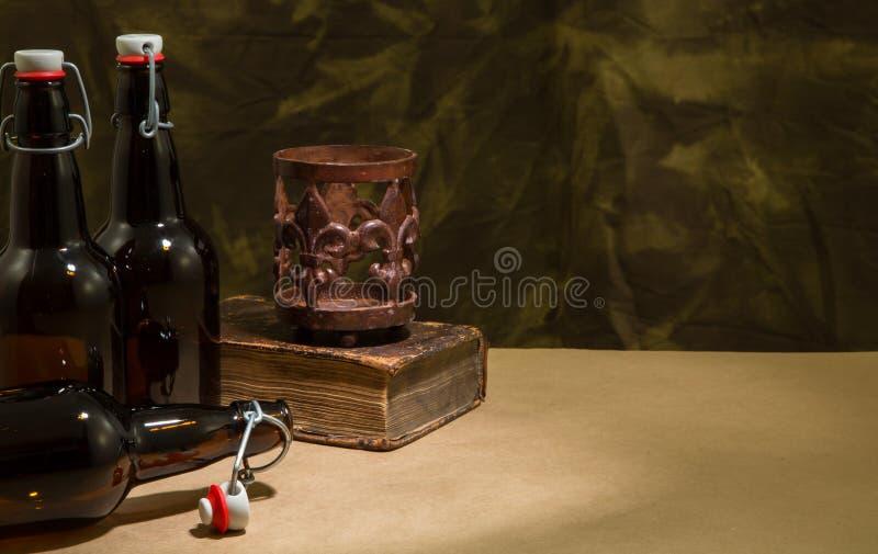 Brygdflaskor royaltyfria foton