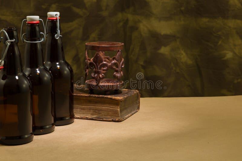 Brygdflaskor royaltyfria bilder
