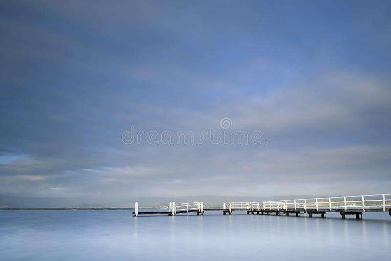 Brygga sjö Illawarra royaltyfri fotografi