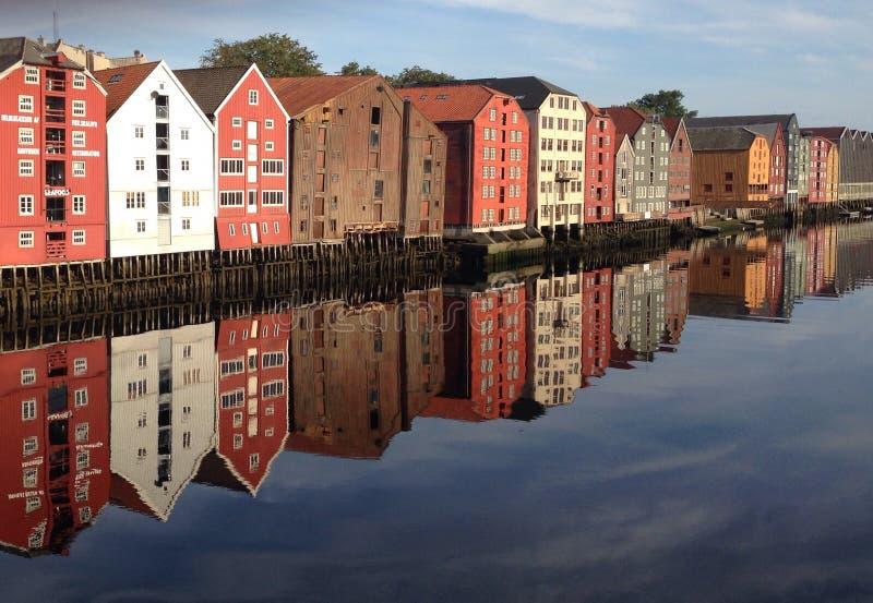 Brygge de Strondheim imagen de archivo libre de regalías