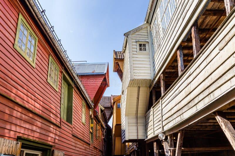 Bryggen в Бергене Норвегии стоковое изображение rf