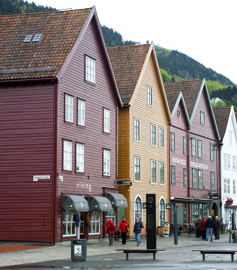 Bryggen imagem de stock