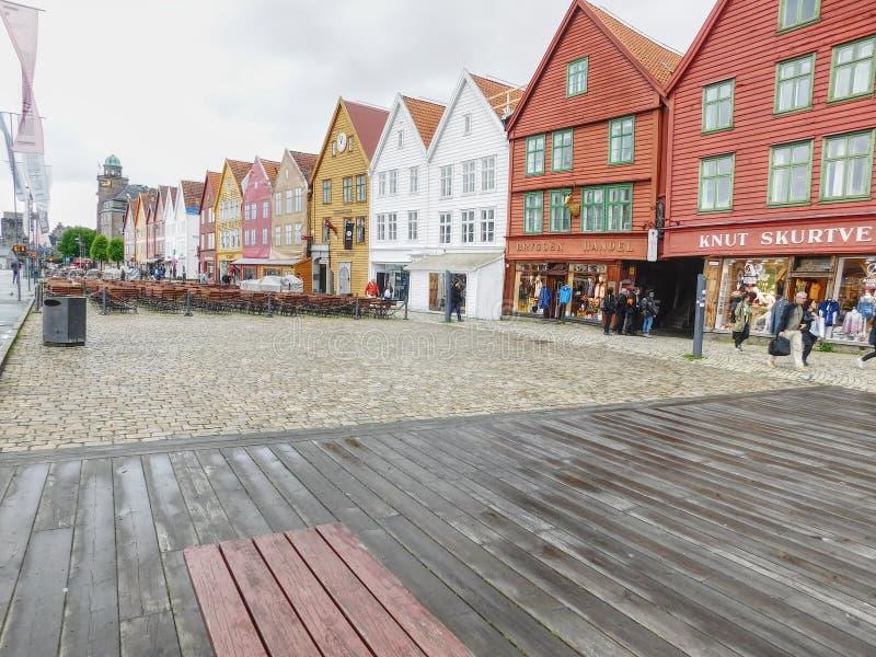 Bryggen av Bergen arkivfoton