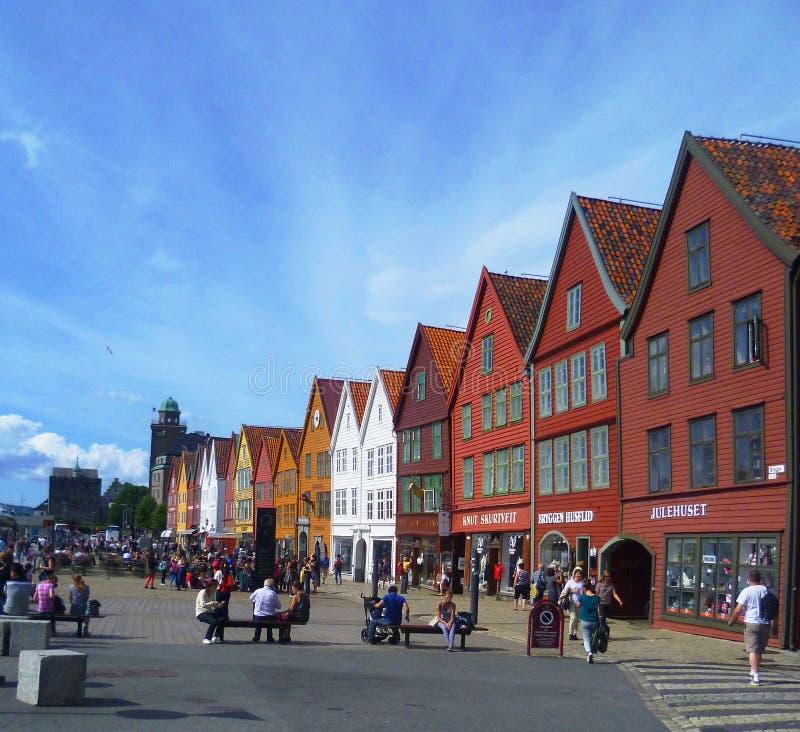Bryggen, Bergen images libres de droits