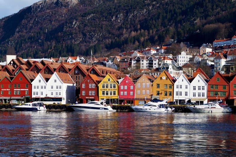 Bryggen, Bergen, Noruega imágenes de archivo libres de regalías