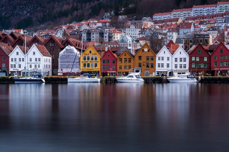Bryggen, Bergen, Noruega imagenes de archivo