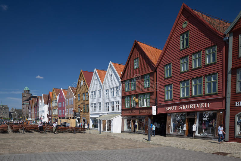 Bryggen, Bergen, Noruega imagen de archivo