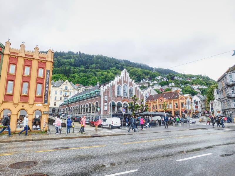 Bryggen von Bergen stockbild
