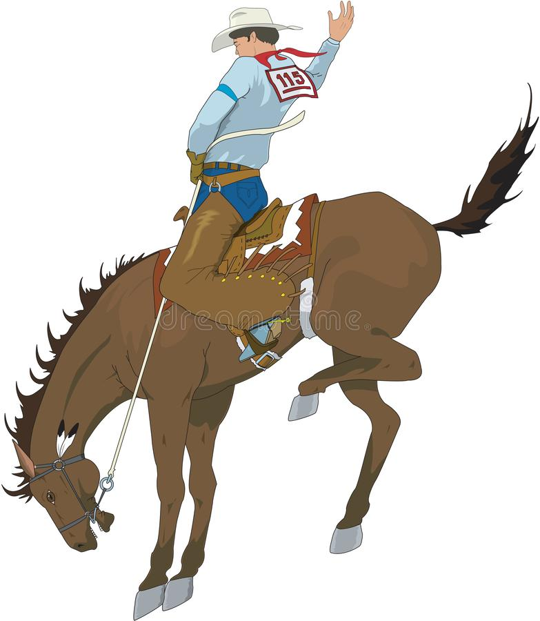 Brykać Bronco wektoru ilustrację ilustracja wektor