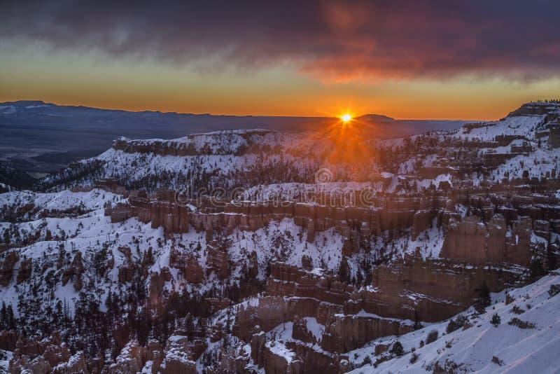 Bryka Canon zimy wschód słońca zdjęcie stock