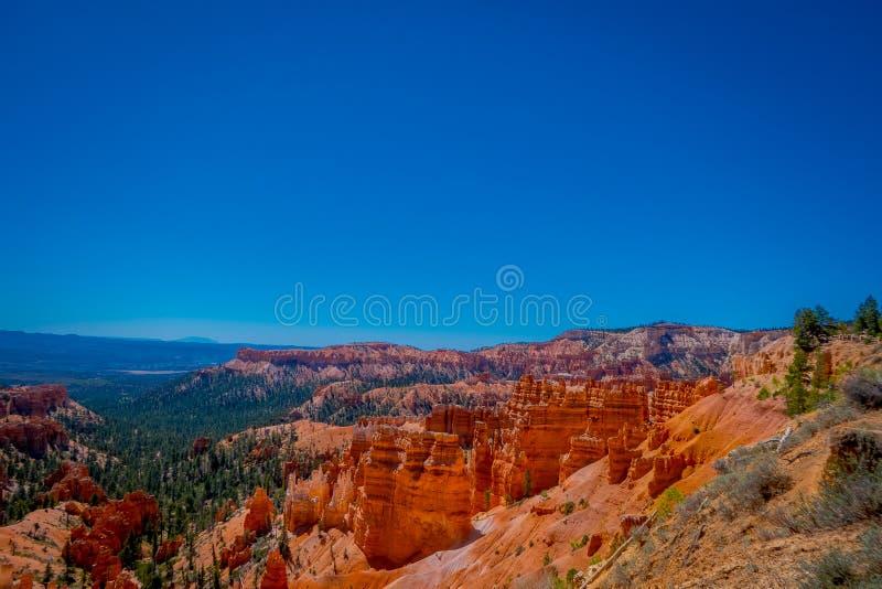 Bryka jaru parka narodowego krajobraz, Utah, Stany Zjednoczone Natury scena pokazuje pięknych hoodoos, pinakle i iglicy, obrazy royalty free