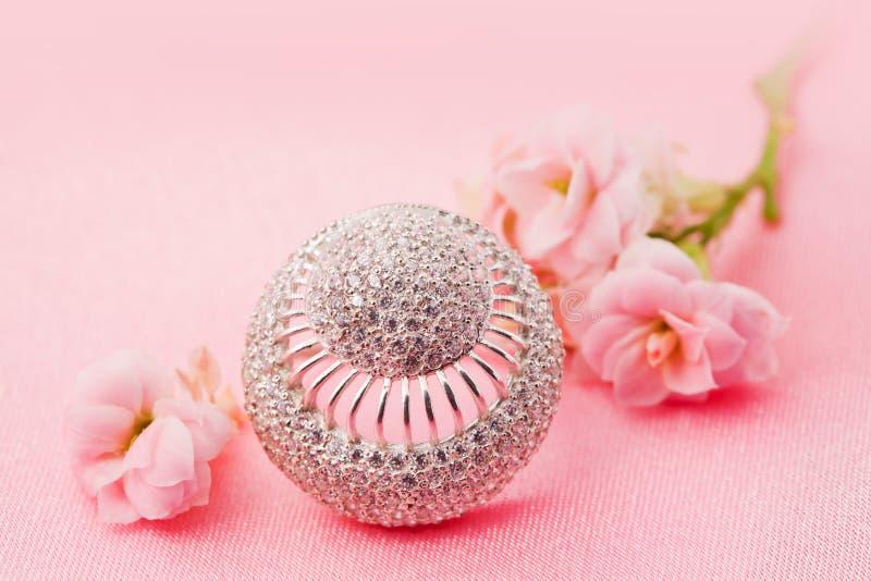 brylantów kwiatów biżuteria zdjęcie royalty free