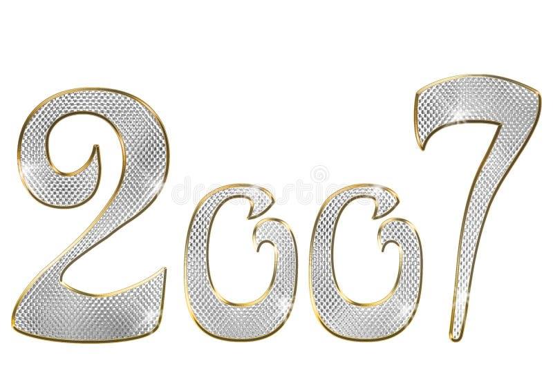 brylanta liczby białe tło ilustracja wektor