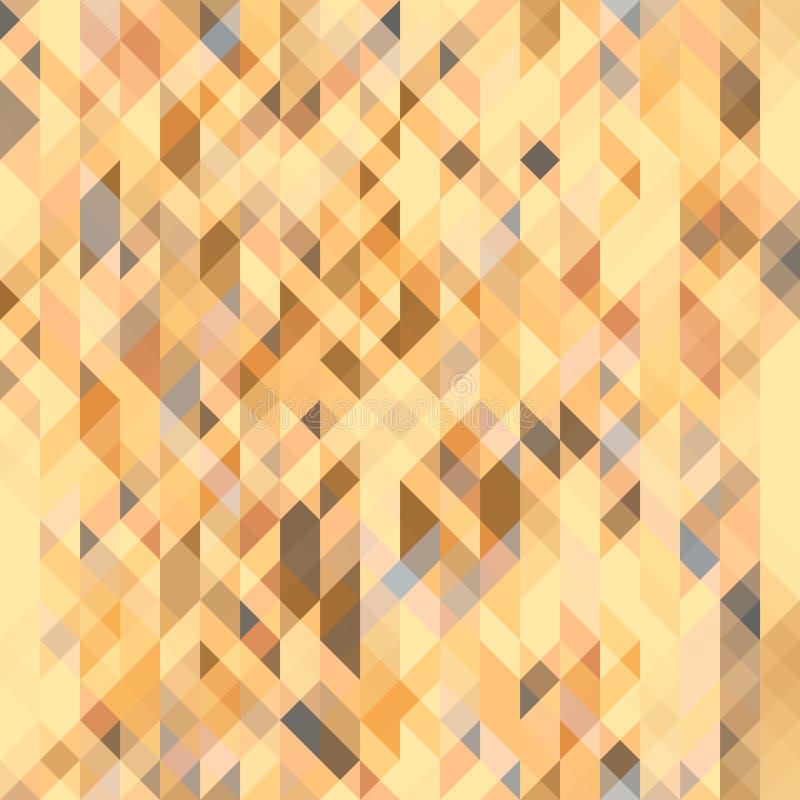 Bryna, grå färger och den orange geometriska sömlösa modellen för persika Futuristisk polygonal textur royaltyfri illustrationer