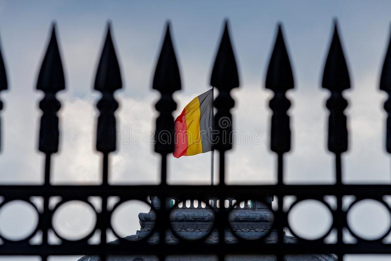 bryska belgisk flagga royaltyfri foto