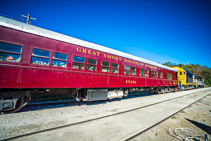 Bryson city, NC October 23, 2016 - Great Smoky Mountains Train r. Ide city scenes stock photo