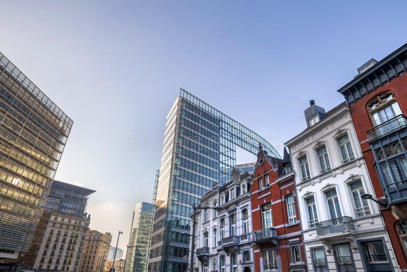 Bryssel Belgien cityscape royaltyfri foto
