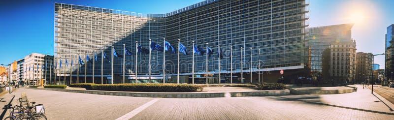 Bryssel Belgien - 25 Februari 2018: Europeiska kommissionen Headqu arkivbild